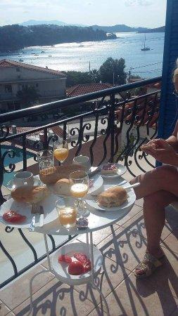 Villa Nina Megali Ammos: Utsikten fra balkongen i 2.etg.