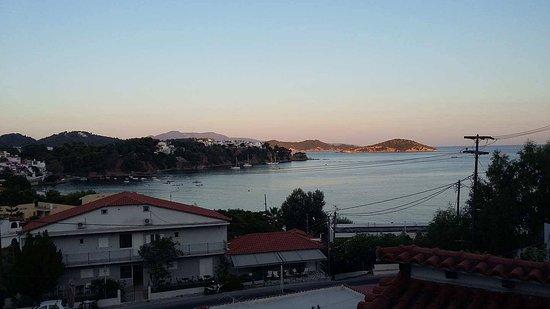 Villa Nina Megali Ammos: Utsikt fra balkongen.