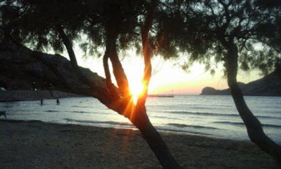 Галиссас, Греция: Ηλιοβασίλεμα στο Γαλησσά.