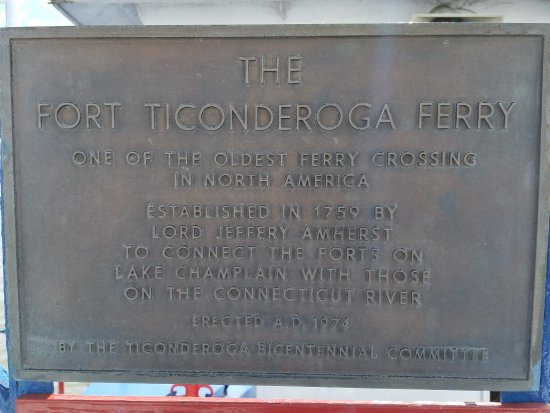 Shoreham, VT: Ferry placard
