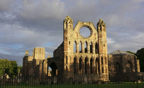 Elgin Cathedral looking west in the morning