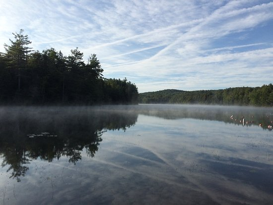 Northville, NY: The scene for my early morning kayaking...