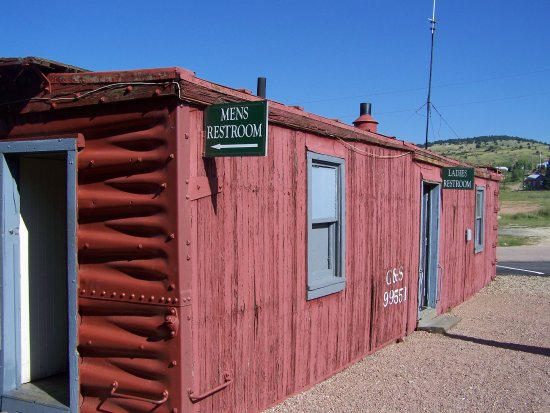 Cripple Creek & Victor Narrow Gauge Railroad: restrooms at depot are in an old railcar