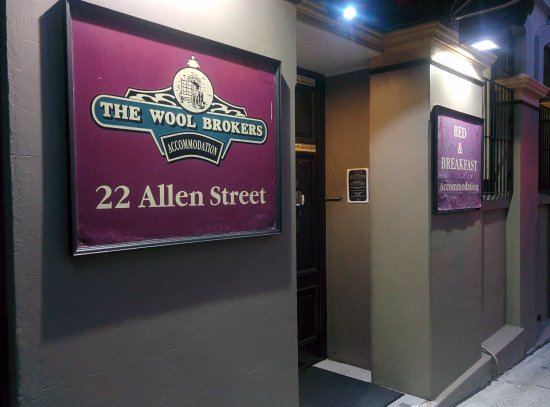 Woolbrokers Hotel: Entrance to the B&B