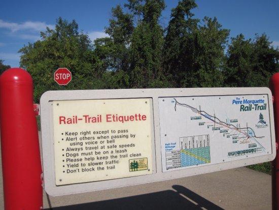 Isabella County, MI: Maps along the Pere Marquette Rail-Trail