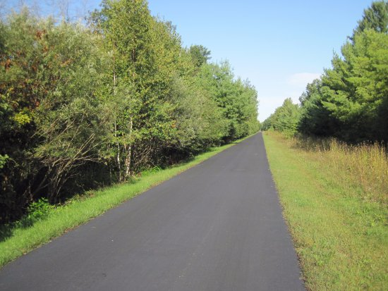 Isabella County, MI: straight, wide and paved trail