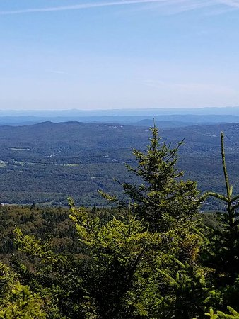 Dover, VT: The view from the top of Haystack Trail (not the clue itself, but, the view is amazing).