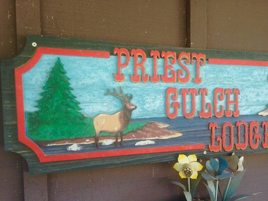 Priest Gulch Campground , RV Park, Cabins & Lodge: Sign