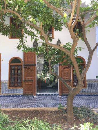 Palais Amani : My huge room door facing the patio.