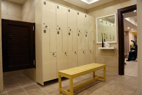 Locker dressing room at javad hotel s spa gym picture of