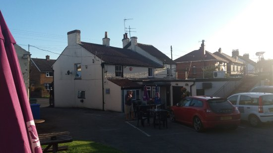 Hunmanby, UK: from the beer garden