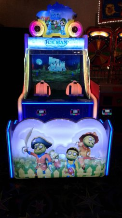 Funland Arcade: Our latest game - Ice Man! Use the water cannons to stop the zombies! Its a blast! #FunlandLB
