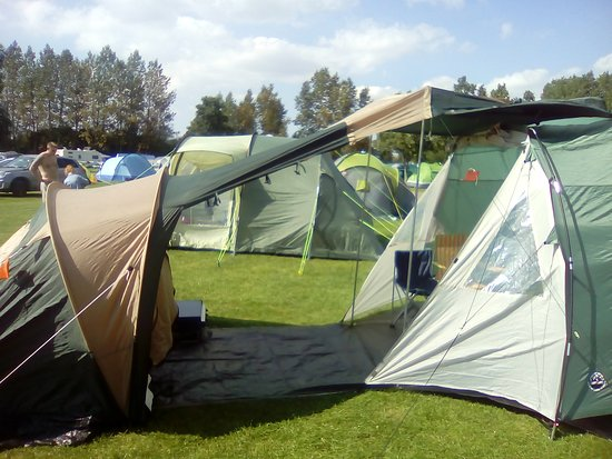 Chichester Lakeside Holiday Park - Park Holidays UK Our tent pitch & Our tent pitch - Picture of Chichester Lakeside Holiday Park ...