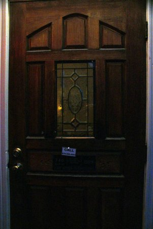 Columbus Hotel: Entry Door at the Top of Stairs