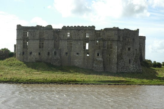 Carew castle across the mill pond - Picture of Carew Castle & Tidal