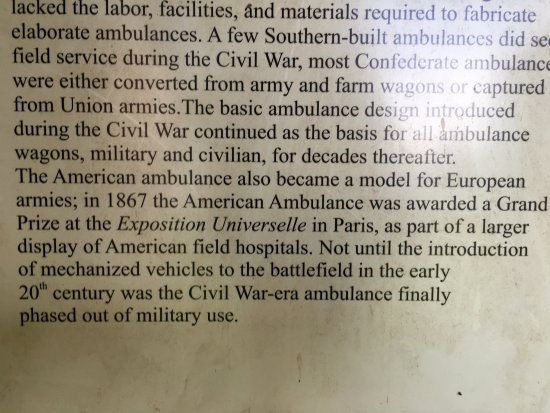 Keedysville, MD: American ambulance was award winning- Pry House Field Hospital Museum
