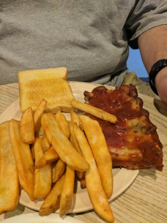 Ossipee, NH: This is the baby back rib dinner for 20 bucks