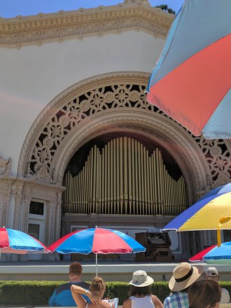 Spreckels Organ Pavilion: View from the seats.