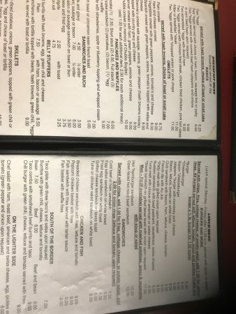 Fort Lupton, CO: Grannies Diner- 2/3 of menu