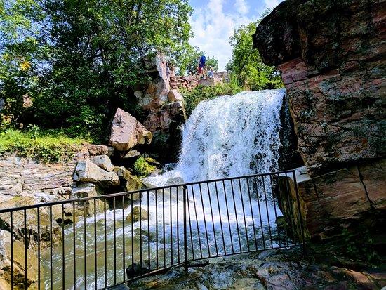 Winnewassa Falls in Pipestone - the pinnacle of the 3/4 mile trail