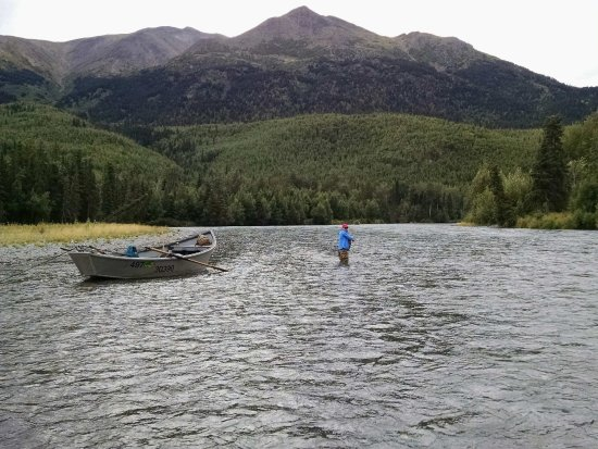 Hope, AK: Wading the Kenai River for Trout