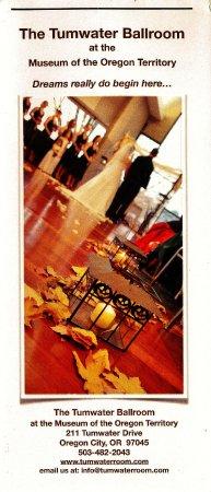 ออริกอนซิตี, ออริกอน: Tumwater Ballroom flier