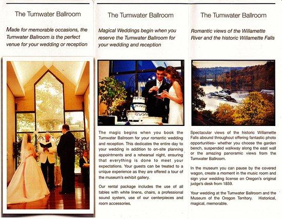 ออริกอนซิตี, ออริกอน: Inside Tumwater Ballroom flier