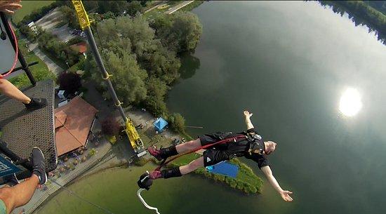 Biberach, Tyskland: Direkt über dem See