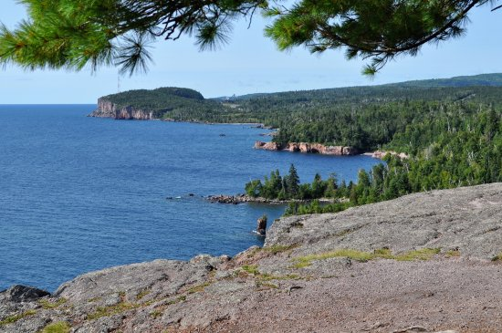 Silver Bay, MN: Shovel Point View from Cliff