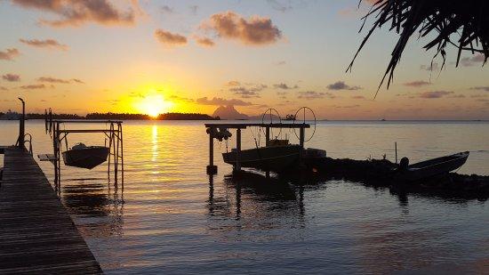Tahaa, Polinesia Francesa: vue du ponton