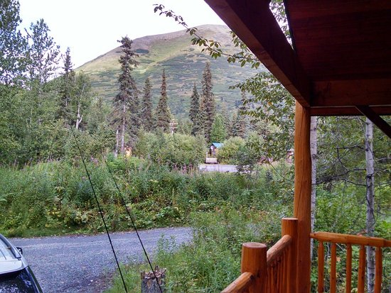 Moose Pass, Аляска: View From Cabin Porch