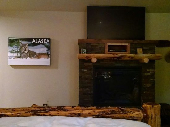 Moose Pass, AK: Cabin Fireplace Heater