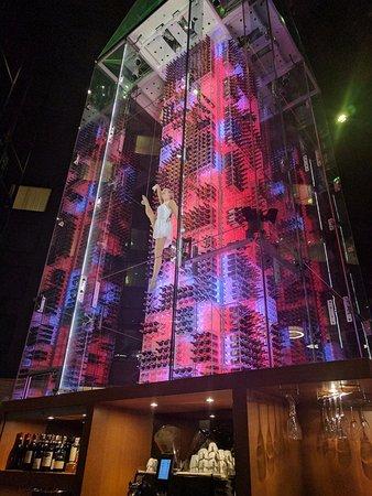 Radisson Blu Hotel, Zurich Airport: Acrobats in the wine tower