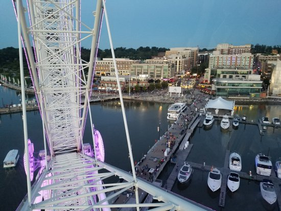 National Harbor, MD: From atop the ferris wheel