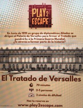 """Sarria de Ter, สเปน: Flyer de """"El Tratado de Versalles"""""""