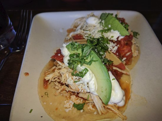 Chicken Tinga Tacos - Picture of Copita Tequileria y ...