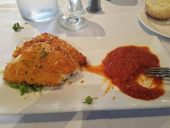 The Wharf: friend mozzarella appetizer