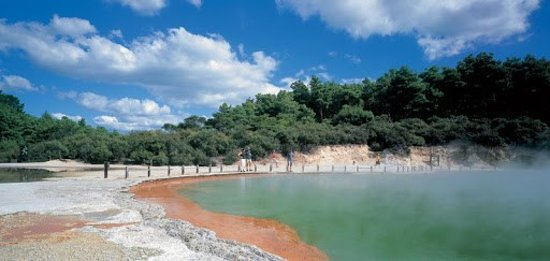 Papamoa, New Zealand:  Wai-O-Tapu geothermal area one of the top attractions in New Zealand.
