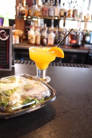 HomeSlice Pizza : Pick up your food to go, or stay for a drink. Either way, we are here to accommodate!