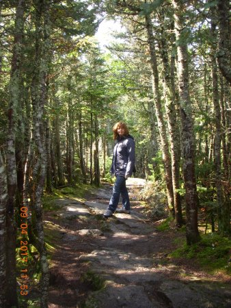 Wildcat Mountain: Sharon at Summit of Wildcat