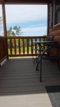 Hector, NY: Porch with view of Lake Seneca