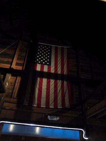 Center Ossipee, NH: The flag proudly hangs at one end of the restaurant