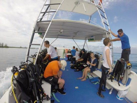 Traveling to our first dive site with Scuba Du