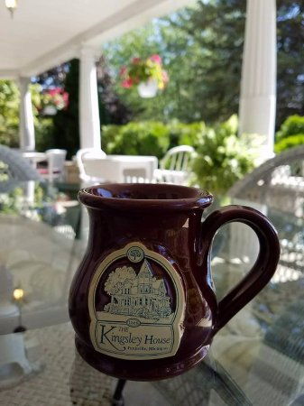 Kingsley House Bed and Breakfast Inn: Enjoying hot Cocoa on the porch on a cool afternoon.