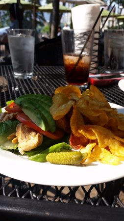 "Aster Cafe: Club ""sandwich"" with chips!"