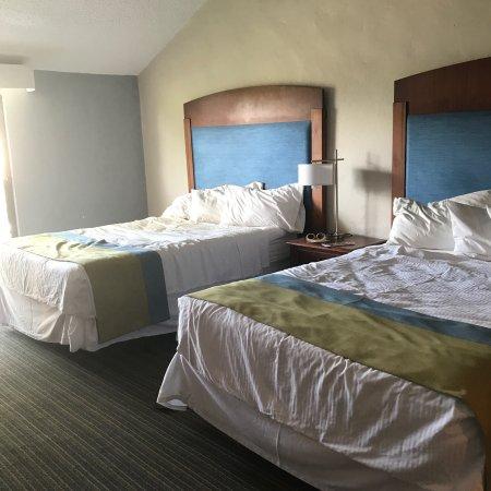 Wyndham Garden at Palmas del Mar: Habitación tradicional con dos camas dobles.