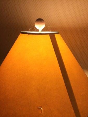 Crater Lake Lodge: cobweb on dim lamp