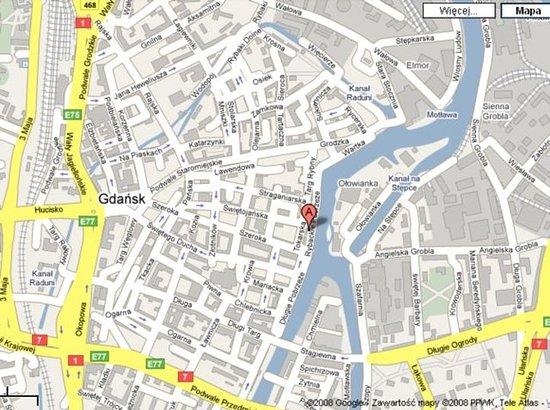 Map Picture of Hanza Hotel Gdansk TripAdvisor