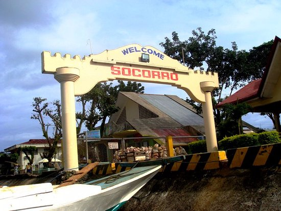 Welcome arch at Socorro in Bucas Grande, SDN