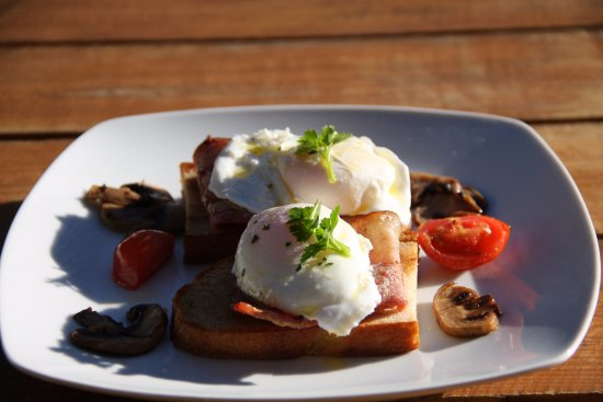 Potchefstroom, Νότια Αφρική: Poached eggs on farm bread